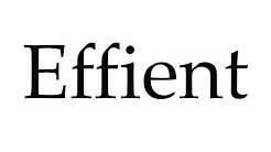 How to Pronounce Effient