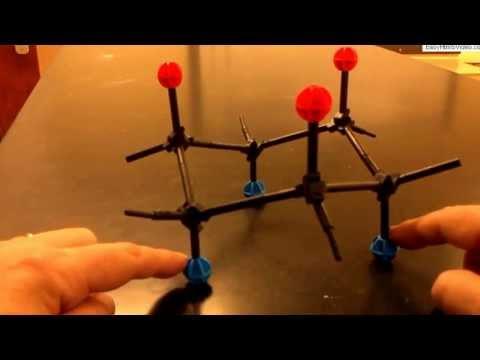 Cyclohexane Ring-flip With Molecular Models