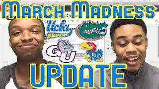 2017 NCAA MARCH MADNESS TOURNAMENT BRACKET UPDATE! SWEET SIXTEEN PREDICTIONS!