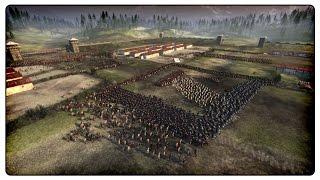ROMAN FORT BATTLE - 12,000 Man Battle - Ancient Empires Total War Gameplay