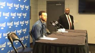 STEPHEN CURRY, Golden State Warriors (3-0) postgame, Game 3 vs Portland Trail Blazers