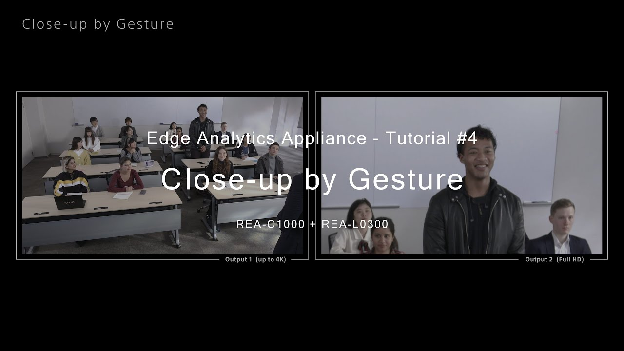 Tutorial 4 Close Up By Gesture Sony Edge Analytics Rea C1000