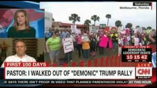 Pastor at Trump Florida Rally Walked out because it was Demonic; Daughter Sobbed in Fear