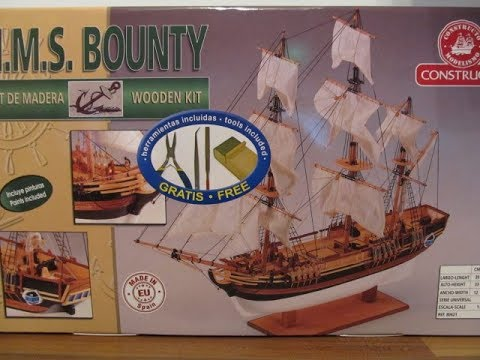 Unboxing H.M.S. Bounty in 1:110 von Constructo