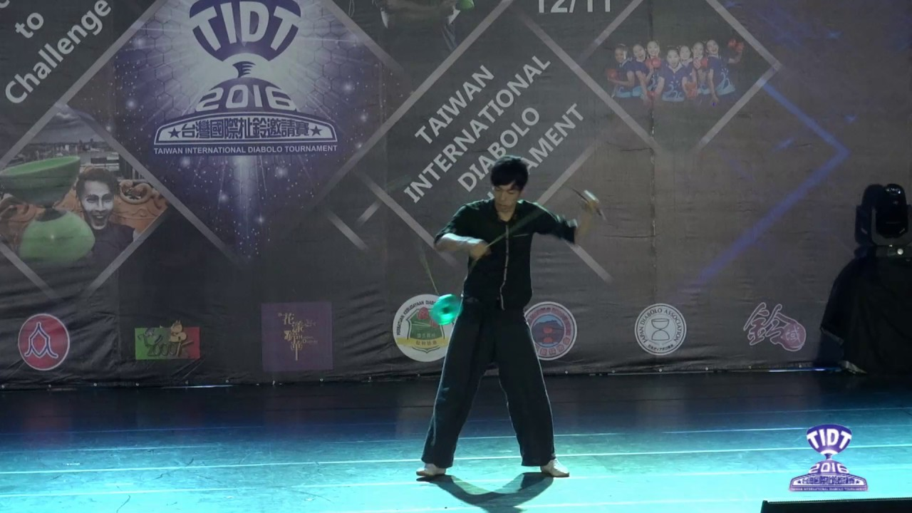 2016 TIDT 培鈴舞臺賽13歲及以上男生組-日本扯鈴協會 高森啓史 - YouTube