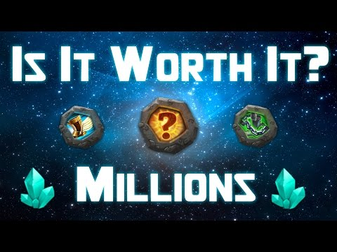Castle Clash Forging 2 Million Blue Crystals!