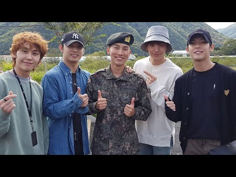 BTOB Members Reunited, Visiting Leader Eunkwang After He Achieved The Best Score In Basic Military