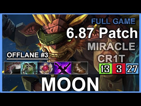 Moon Bristleback 687 Miracle Cr1t Full Game YouTube