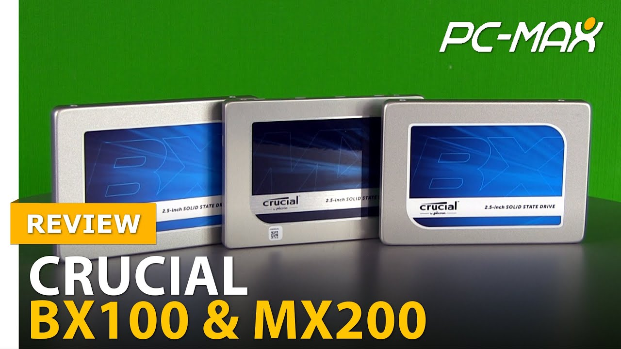 Review / Test: Crucial MX200 & BX100 - HD