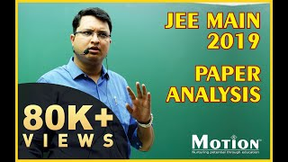 JEE MAIN 2019 Paper Analysis by NV Sir - MD, Motion Education Pvt. Ltd.