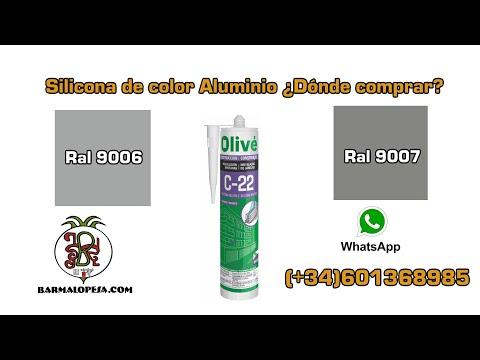 Silicona Neutra Color Aluminio Ral 9006 Y 9007 ¿Dónde Comprar?📌
