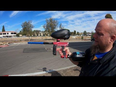 Empire Mini GS Paintball Gun - Shooting