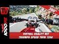 360 Grad - DU wählst die Perspektive am Handy - Virtual Reality mit Triumph Speed Twin 1200