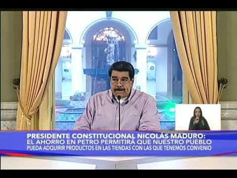 Presidente Maduro aprueba 11,8 millones de euros para 13.500 toneladas de perniles