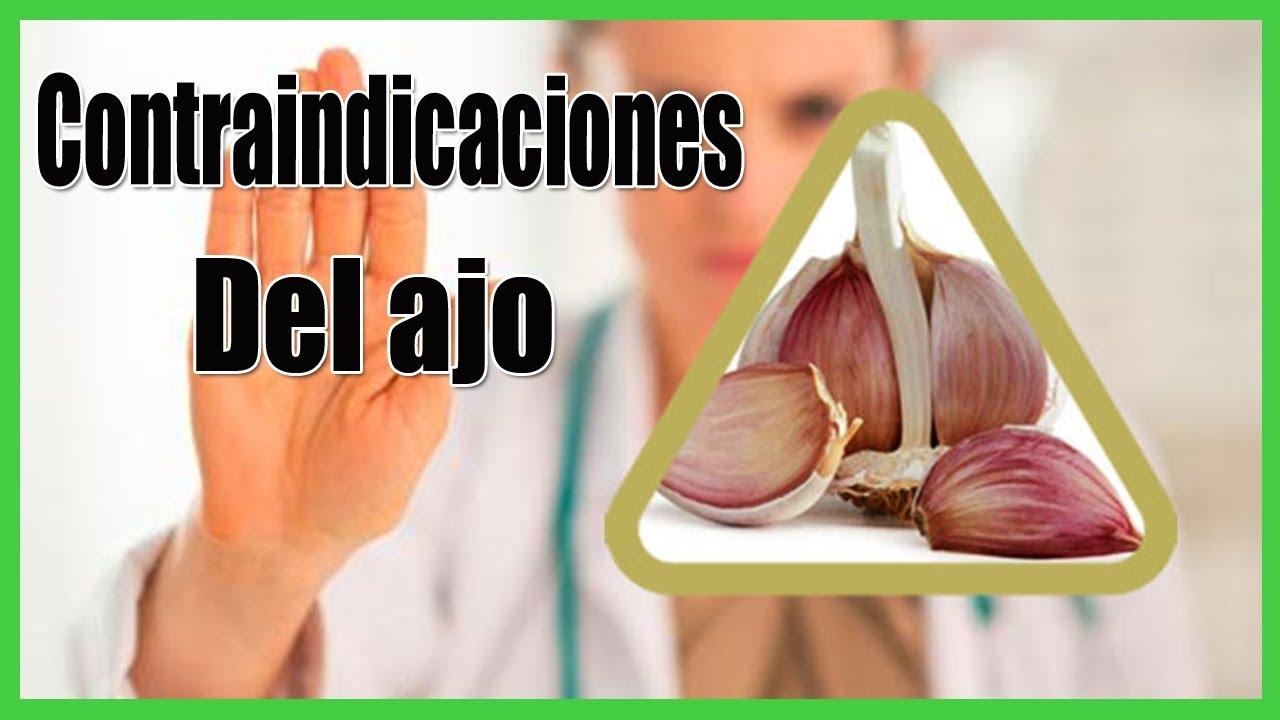 Contraindicaciones del ajo