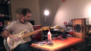 Squier Classic Vibes 60th Anniversary Stratocaster - unoboxed - set up - making a racket!