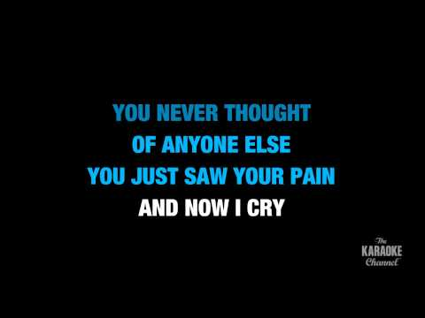 """Karaoke Video: """"Because of You"""" in the Style of """"Kelly Clarkson"""" with lyrics (no lead vocal)"""