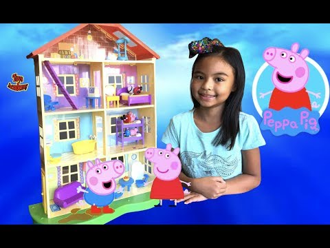 Peppa Pig's Lights and Sounds Family Home Unboxing | Toys Academy
