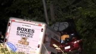 Dangerous Trailers.org Presents U Haul Trailer Starts To Sway Hits Trooper New York State!