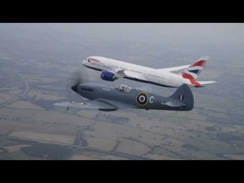 Rolls-Royce | The Rolls-Royce powered 787 Dreamliner and Spitfire together in flight