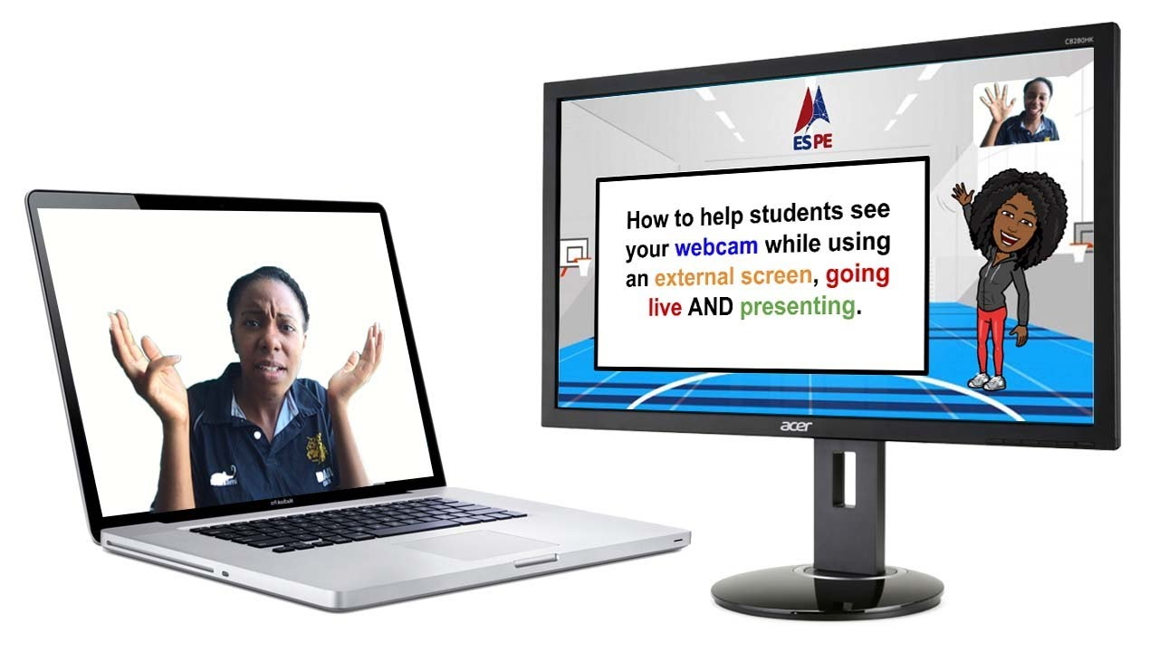 How to Use an External Monitor/TV, Go Live, Present slides & students can see you at the same time.