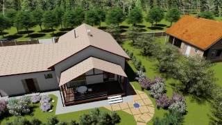 видео Проект одноэтажного дома с гаражом