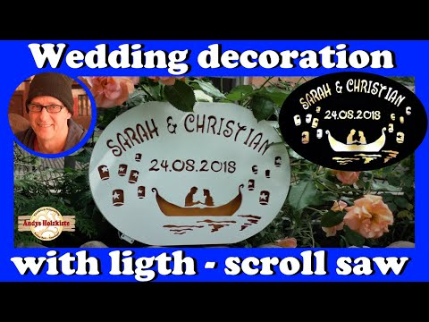 Diy Wedding Signs | How to make a wedding decoration with lights | scroll saw