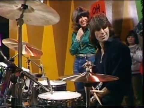 Cozy Powell from Rainbow having fun on British TV in 1979