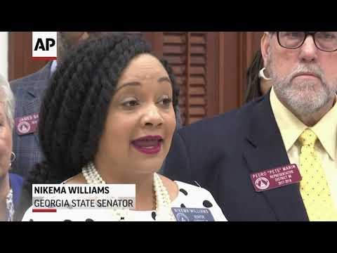 Georgia Senator Nikema Williams decries her arrest
