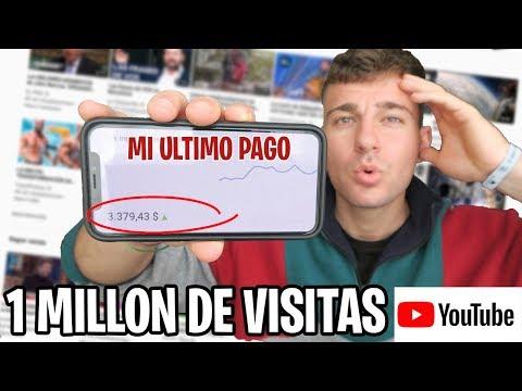 Cuanto COBRO En YOUTUBE Por 1 MILLON DE VISITAS En 2019   Demostrado En Video