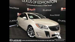 White 2015 Buick Regal GS Review Edmonton Alberta - Lexus of Edmonton