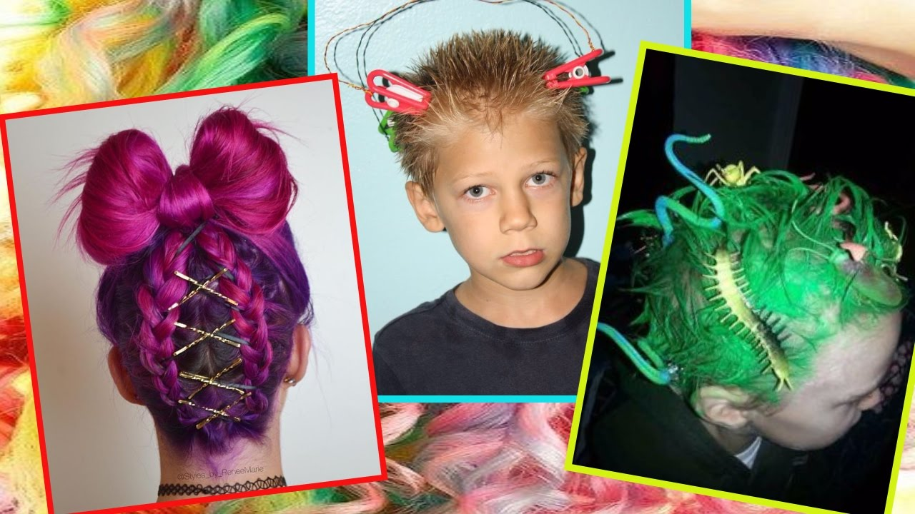 ideas crazy hair day