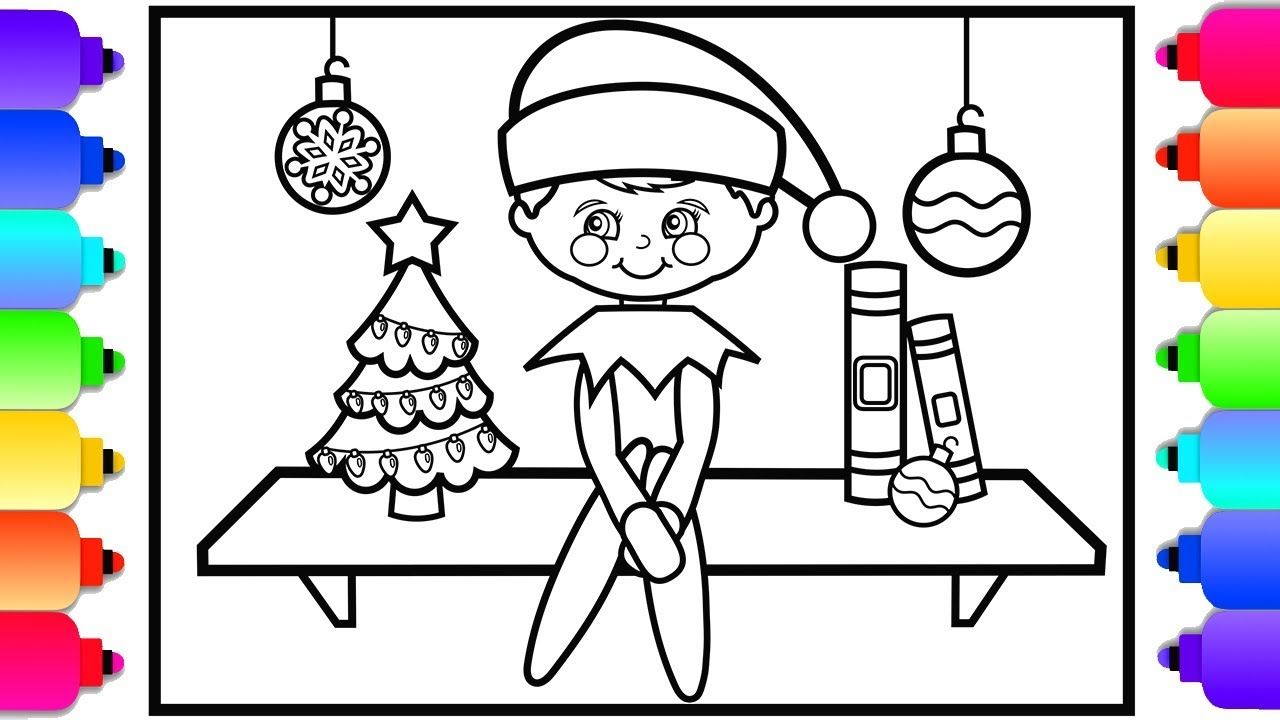 How to Draw Elf on the Shelf | Christmas Coloring Pages ...