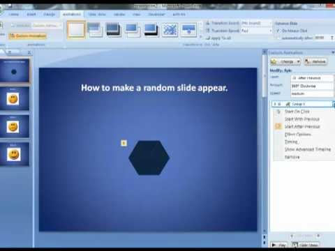How To Add Random Transition Effects To PowerPoint Slides