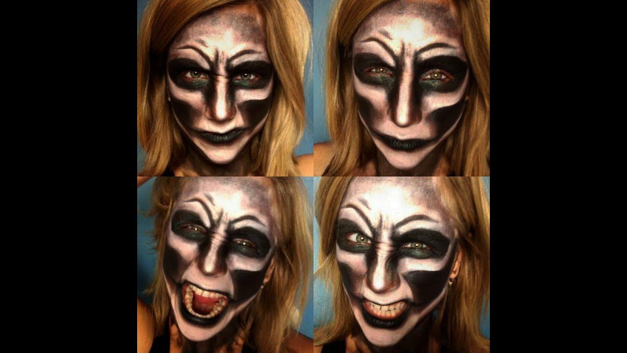 scary demon - evil face - halloween makeup   primp powder pout - youtube