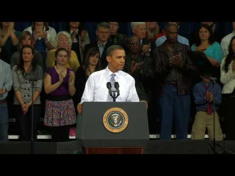 President Obama at the University of Iowa 3/25/2010