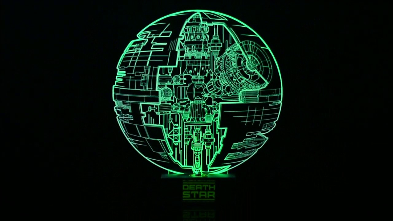 lampe etoile de la mort star wars rogue one - acrylique - youtube