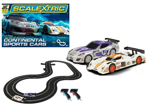 Scalextric Continental Sports Cars 1:32 Scale Slot Car Racing Track Set from modelcarsales.com.au