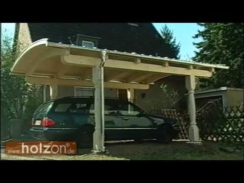 carport selber bauen carport aufbauen eines exklusiven bogendach carports von holzon youtube. Black Bedroom Furniture Sets. Home Design Ideas