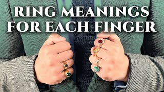 Rings & Their Meaning, Symbolism For Men - What Finger(s) To Wear A Ring On