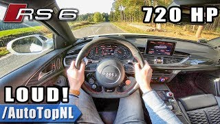 720HP Audi RS6 Avant C7 Elmerhaus INSANELY LOUD! POV Test Drive by AutoTopNL