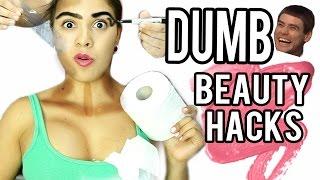 TESTING DUMB BEAUTY HACKS! ft. Promise Phan & SofiaStyled! NataliesOutlet