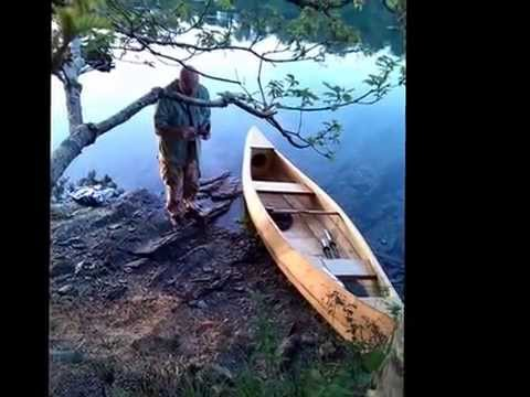 River Fal Trip on my Homemade Stitch and Glue Canoe 2014 - YouTube