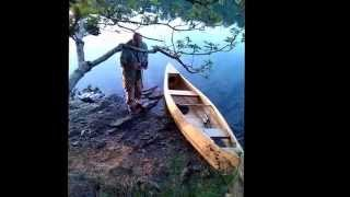 River Fal Trip on my Homemade Stitch and Glue Canoe 2014