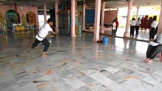 Silambam Malaysia KL PJ  Guru Chandra and son Ranjit Kumar :) KuthuVarsai