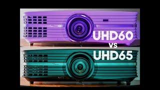 4K Projector Showdown Optoma UHD60 vs Optoma UHD65