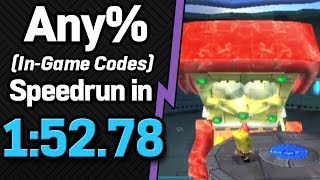 Various Any% In-Game Codes PB/WRs + Speedrun in 1:52.78 (WR on 11/3/2018)