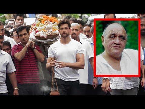 Hrithik & Rakesh Roshan EM0TI0NAL For Lost Their Beloved Grandfather Om Prakash | Prem Chopra