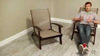 Whitman Adirondack Chair With Textilene - Dark Stain - Product Review Video