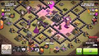 Ataque Lavaloon cv9 -Clash Of Clans